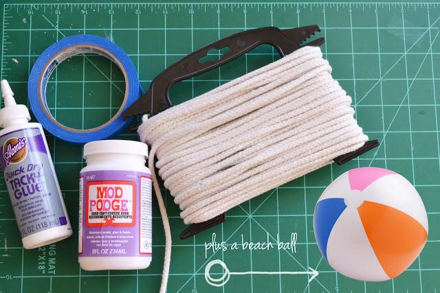 الأدوات المستخدمة فى عمل غطاء من الحبال