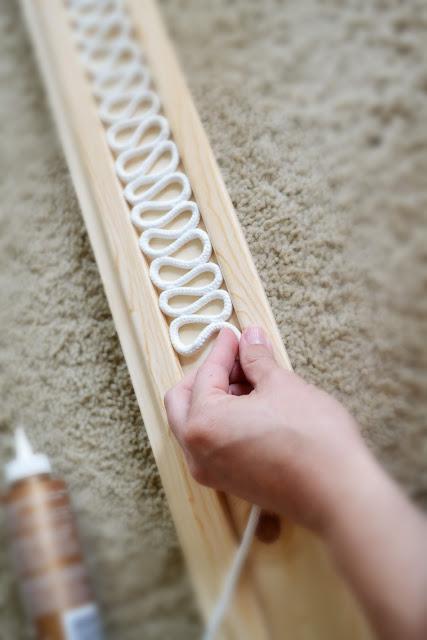 طريقة عمل غطاء من الحبال