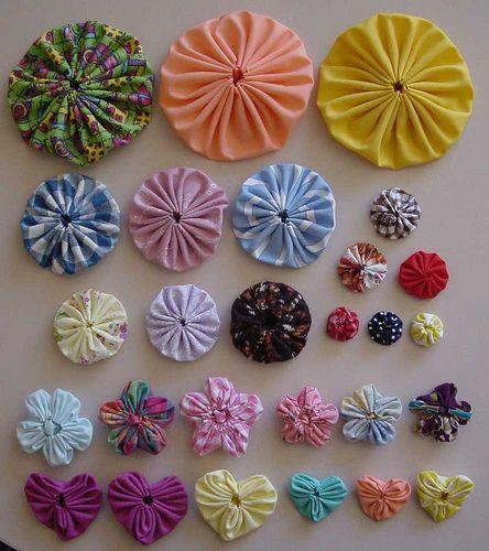 أشكال وأحجام من زهور اليويو