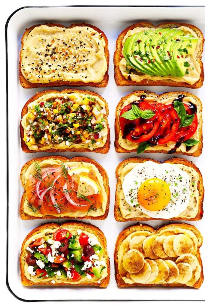 أفكار من خبز التوست