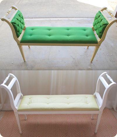 إعادة تدوير كرسى خشب قديم-