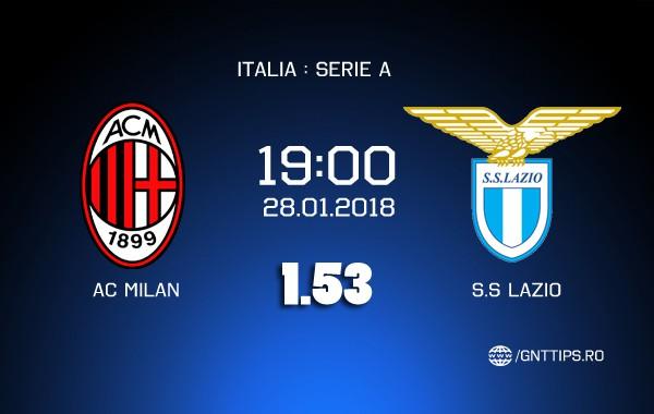 Ponturi fotbal AC Milan - Lazio Serie A