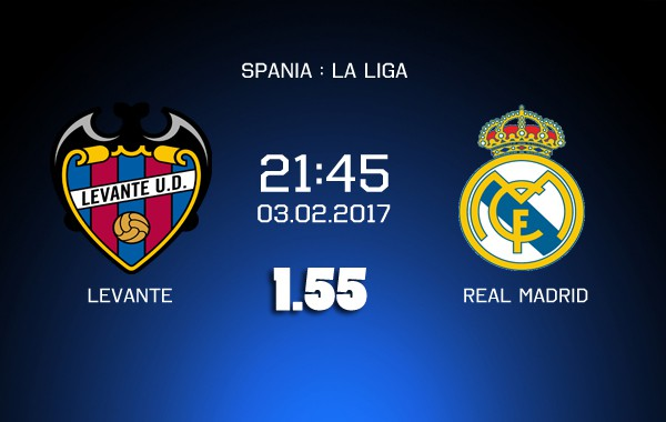 Ponturi fotbal - Levante - Real Madrid - La Liga - 02.02.2018