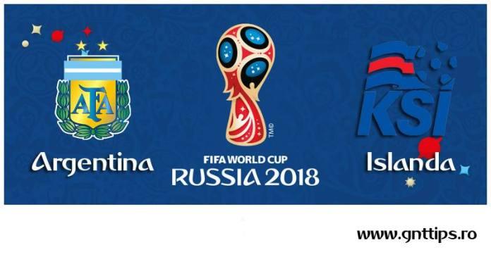 Ponturi fotbal - Argentina - Islanda - Campionatul Mondial - Grupa D - 16.06.2018
