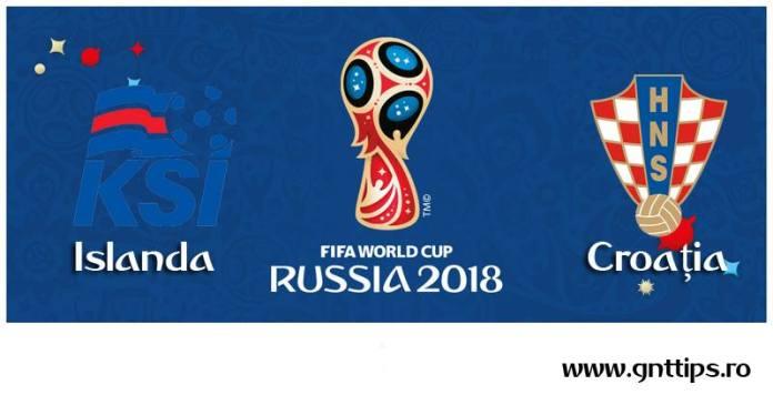 Ponturi fotbal - Islanda - Croatia - Campionatul Mondial - Grupa D - 26.06.2018