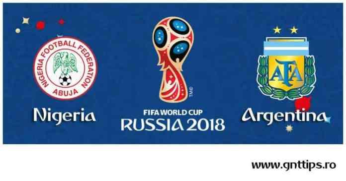 Ponturi fotbal - Nigeria - Argentina - Campionatul Mondial - Grupa D - 26.06.2018