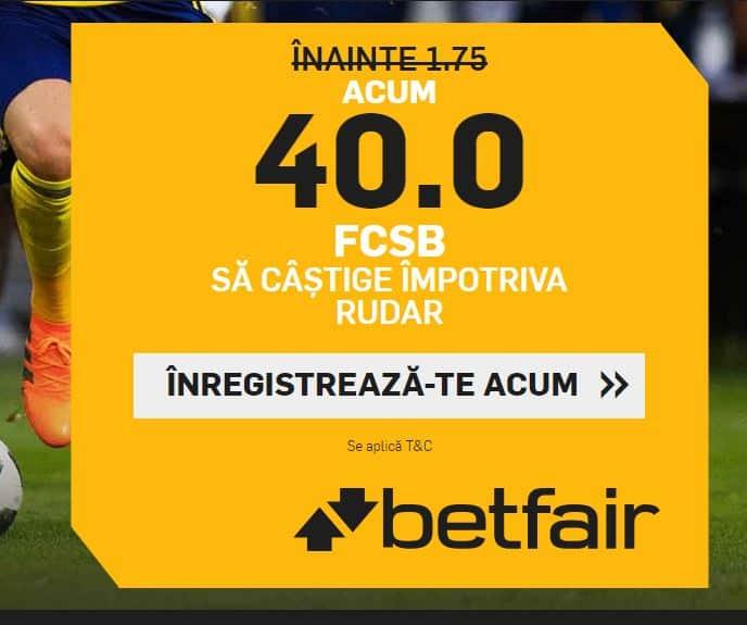 Cota 40.00 pentru FCSB in partida cu Rudar Velenje