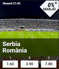 Serbia vs Romania - marja 0%