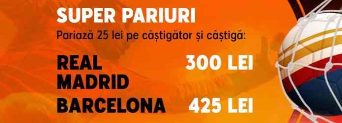 Promotii pariuri El Clasico 1 martie