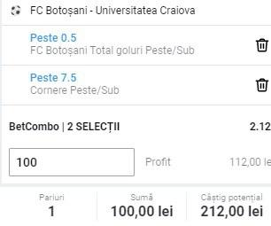 Ponturi la Craiova cu Btosani