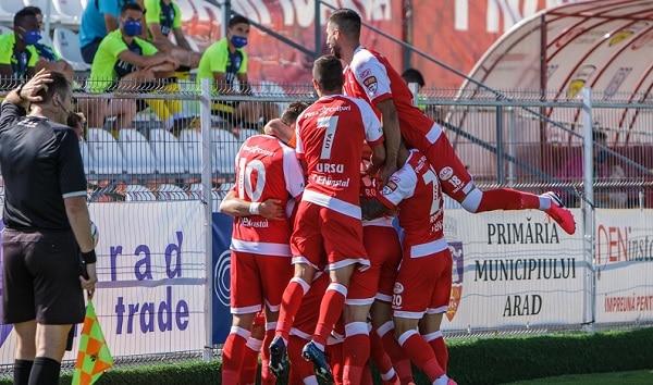 UTA Arad promovează în Liga 1 după o absență de 12 ani
