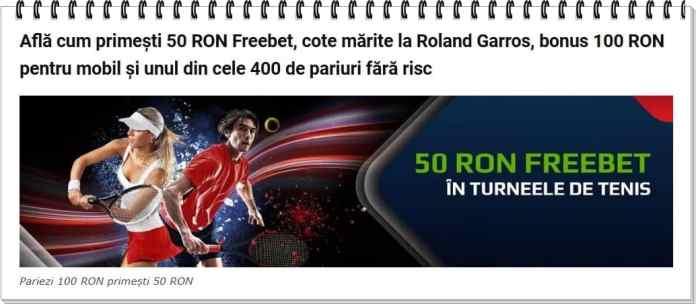 Promoții Pariuri Roland Garros
