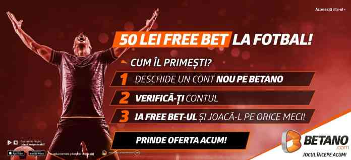 50 RON FreeBet plus 20 FreeSpins fără depunere - doar în octombrie