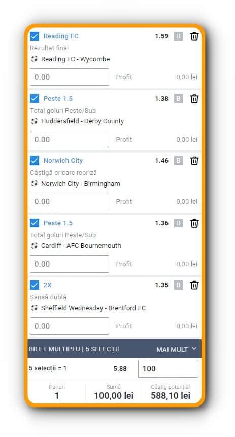 Ponturi fotbal Championship: bilet la pariuri