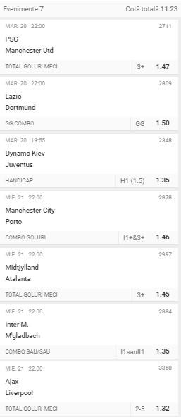 Liga Campionilor: 3 bilete Superbet – Cota 10.00