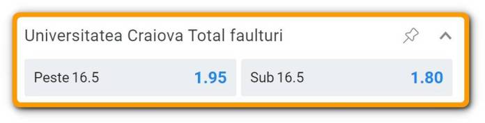 Dinamo vs Universitatea Craiova: cote pariuri faulturi