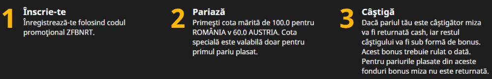 Cote marite Betfair: 100.00 Romania