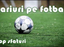 Sfaturi pentru pariurile pe fotbal
