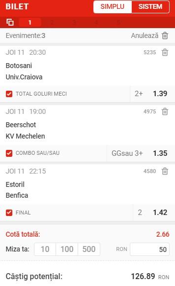 Prezentare cote Superbet - Biletul zilei din fotbal