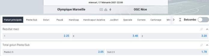 Prezentare cote Betano - Marseille vs Nice
