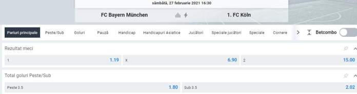 prezentare oferta betano bayern munchen vs fc koln