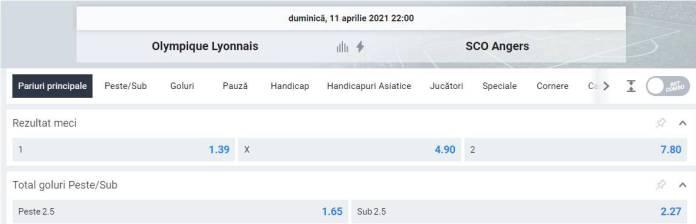 Ponturi pariuri Lyon vs SCO Angers - Ligue 1