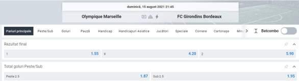 Ponturi pariuri Olympique Marseille vs Bordeaux