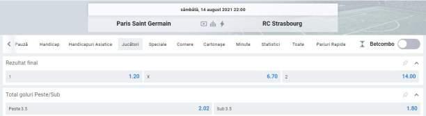 Ponturi pariuri Paris SG vs Strasbourg