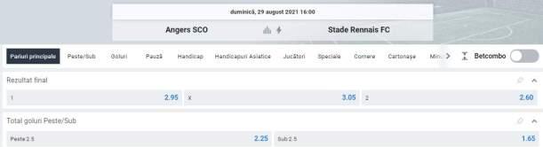 Ponturi pariuri SCO Angers vs Rennes