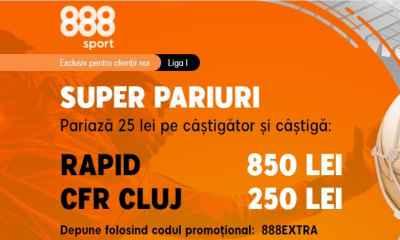 Cote marite Rapid vs CFR Cluj