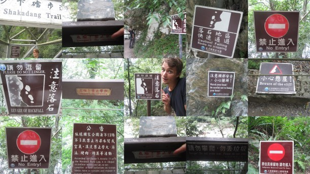 Just a few of the warning signs on Shakadang Trail