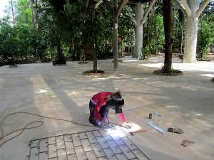 Welding in the jungle temple