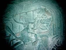 The carvings of Angkor Wat