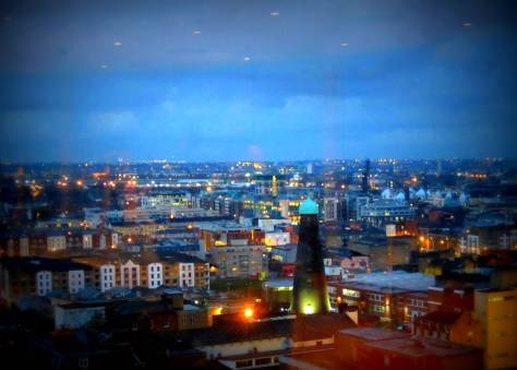 View over Dublin from the Guinness Factory