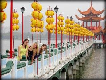Nicole, Maura, and me at Lotus Lake