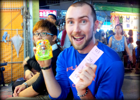 Kevin just won that... thing... at Ruifeng! Yeah, GO RUIFENG.