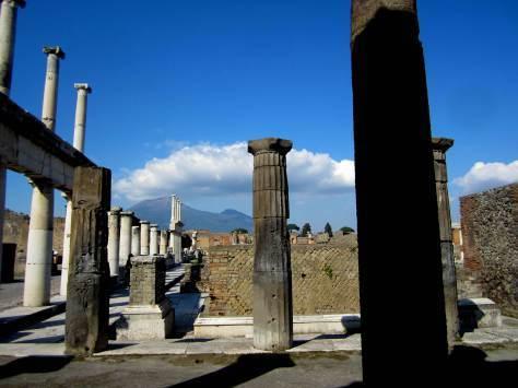 Vesuvius Overlooking Pompeii