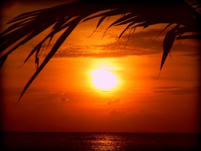 Sunset on Ao Chao Phao beach on Koh Phangan, Thailand