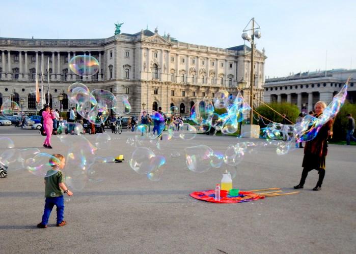 Heldenplatz and the Hofburg Palace in Vienna, Austria
