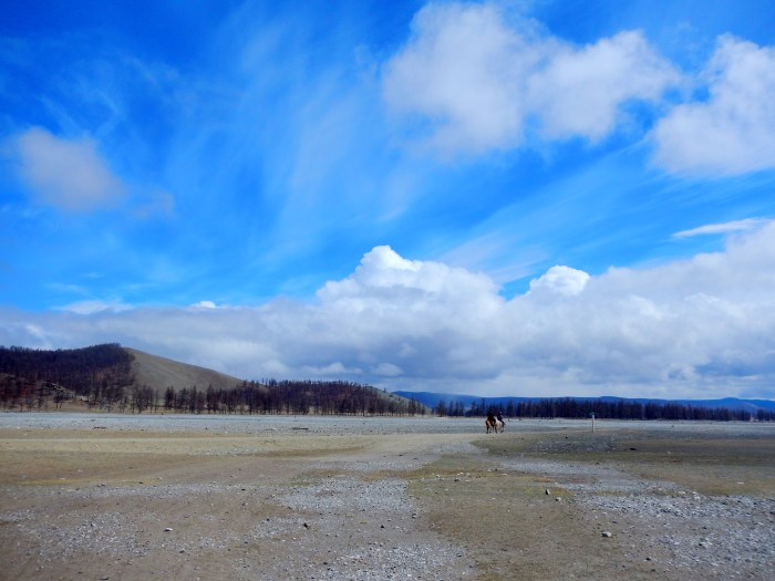 The wide expanse of horse-trekking northern Mongolia.