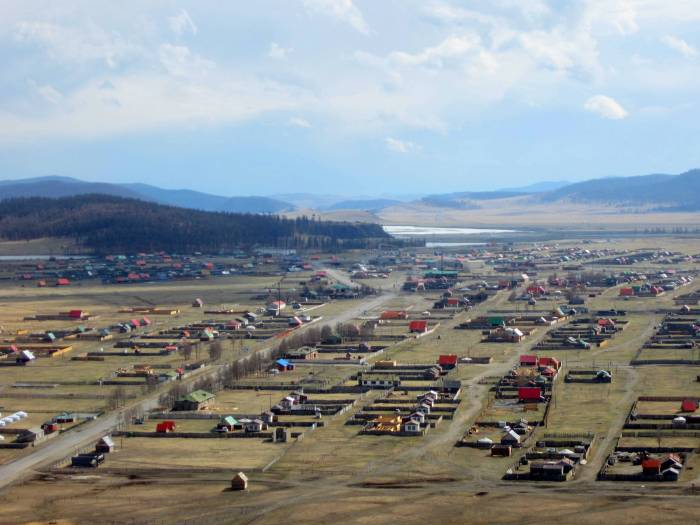 Khatgal, Mongolia-- one of the north's largest towns.