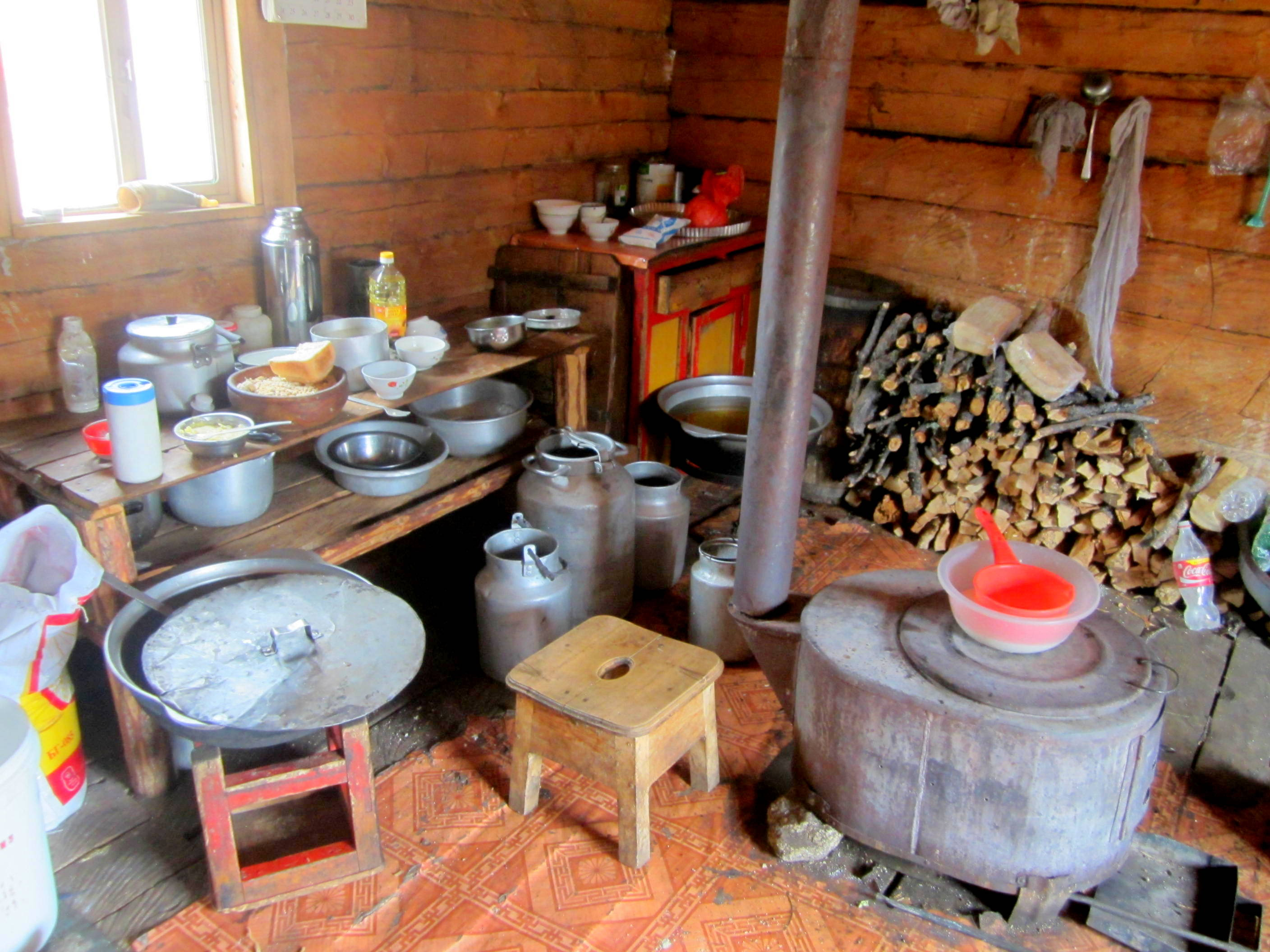 Inside Ut's home, northern Mongolia