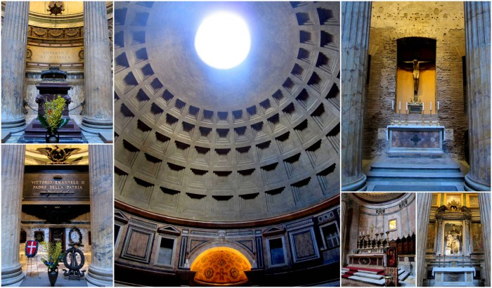 Inside the Pantheon. Rome, Italy