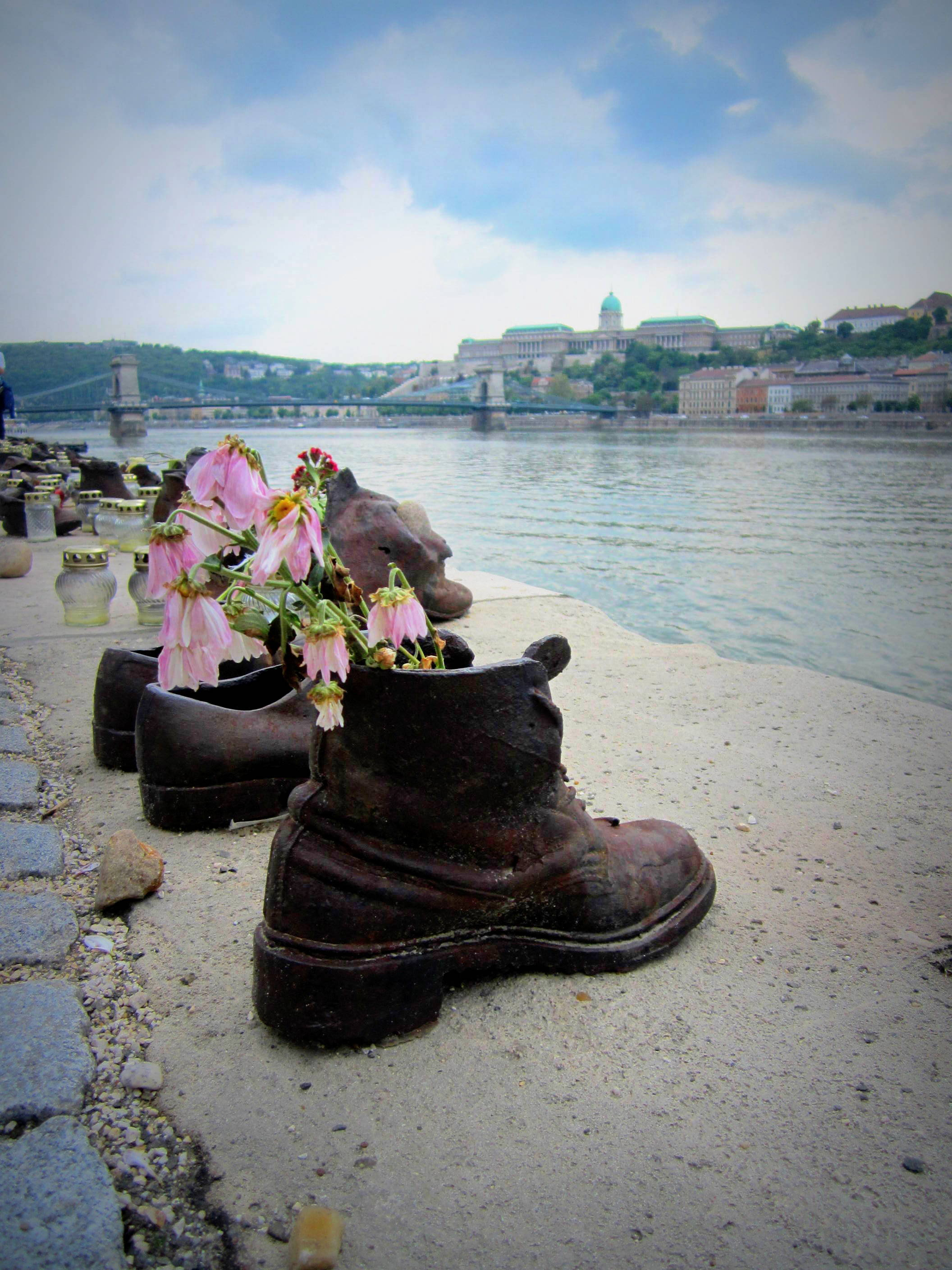 Shoes on the Danube Bank. WW2 memorial. Budapest, Hungary
