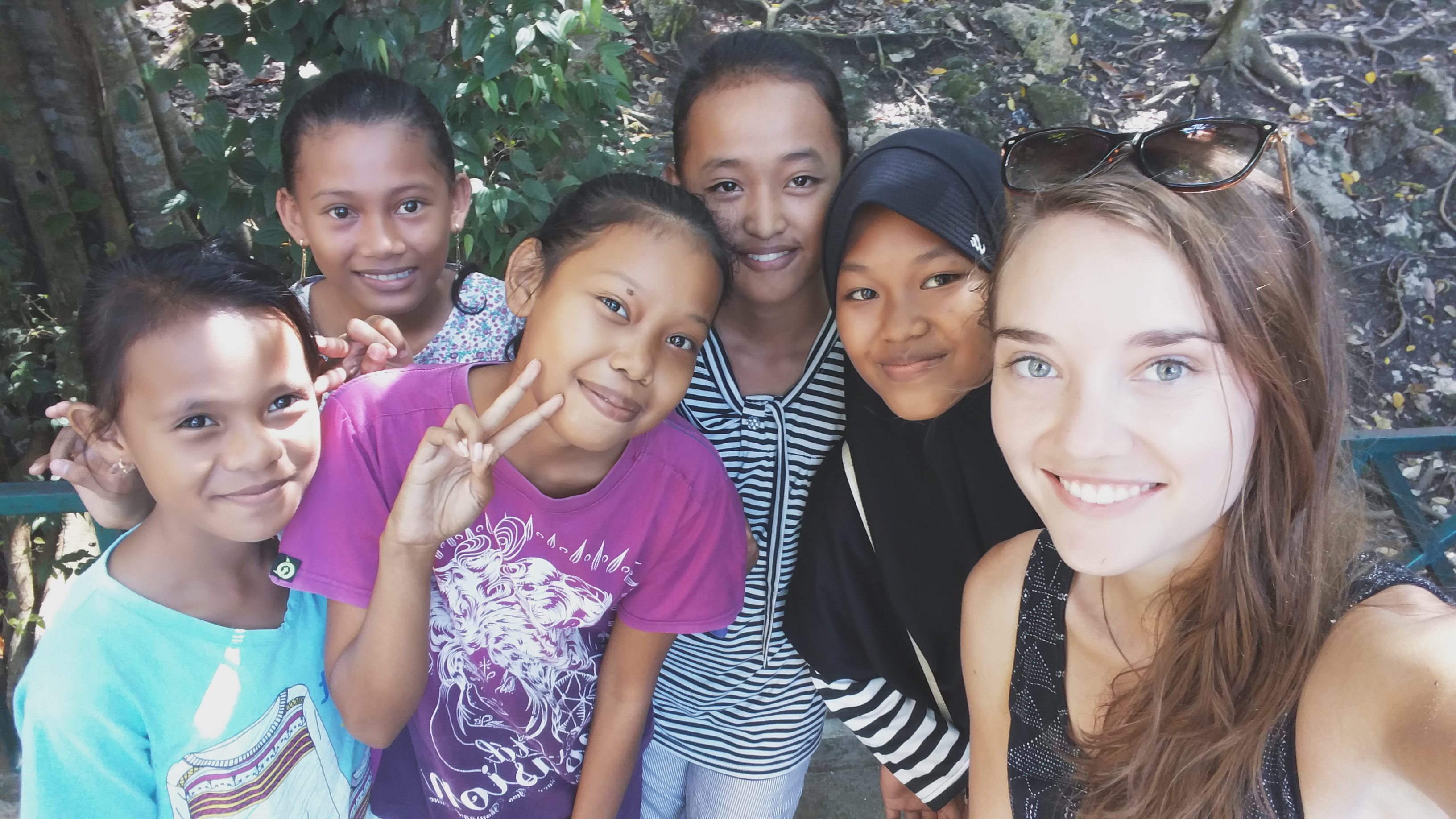 Indonesia, Ampana- local girls that asked to take a photo