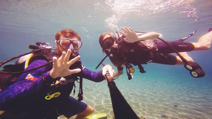 Indonesia, learning to scuba at Sanctum Unauna