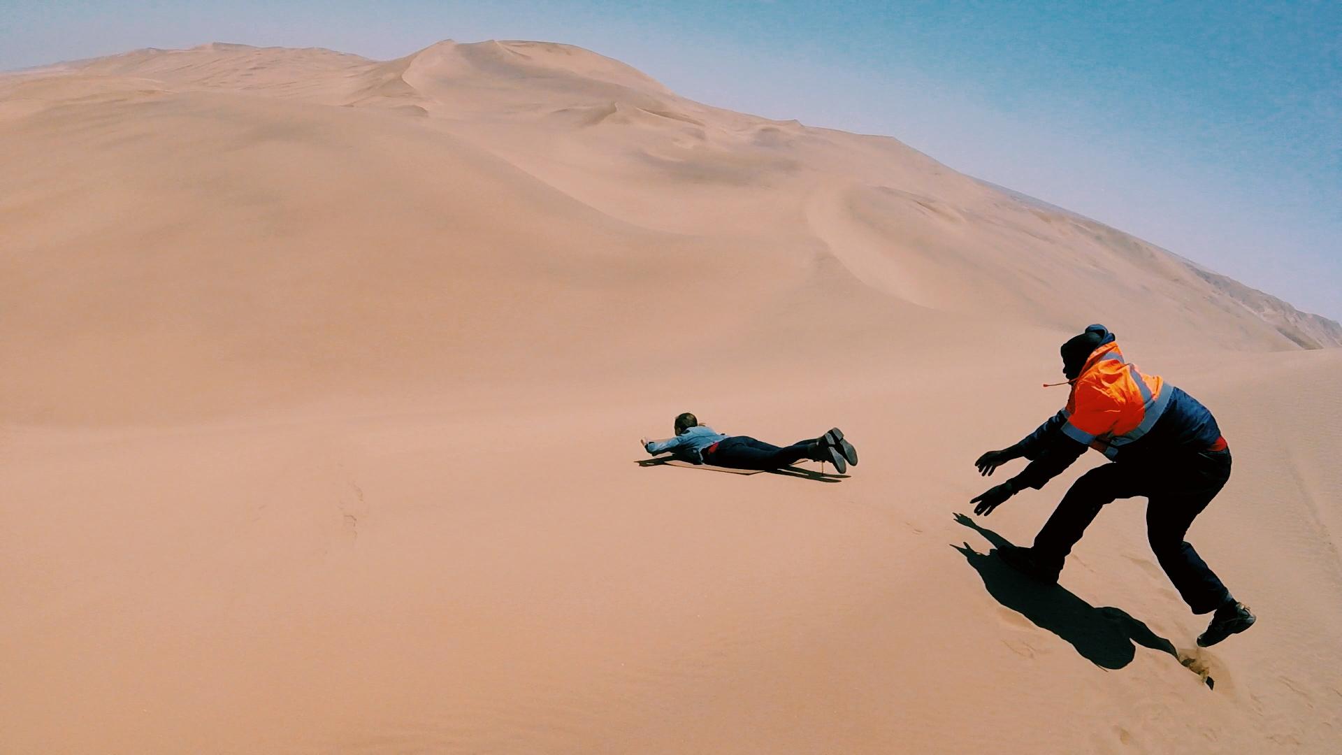 Swakopmund, Namibia - sand sledding