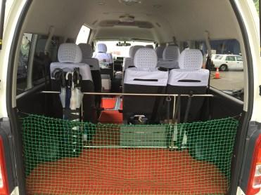 Van trunk space