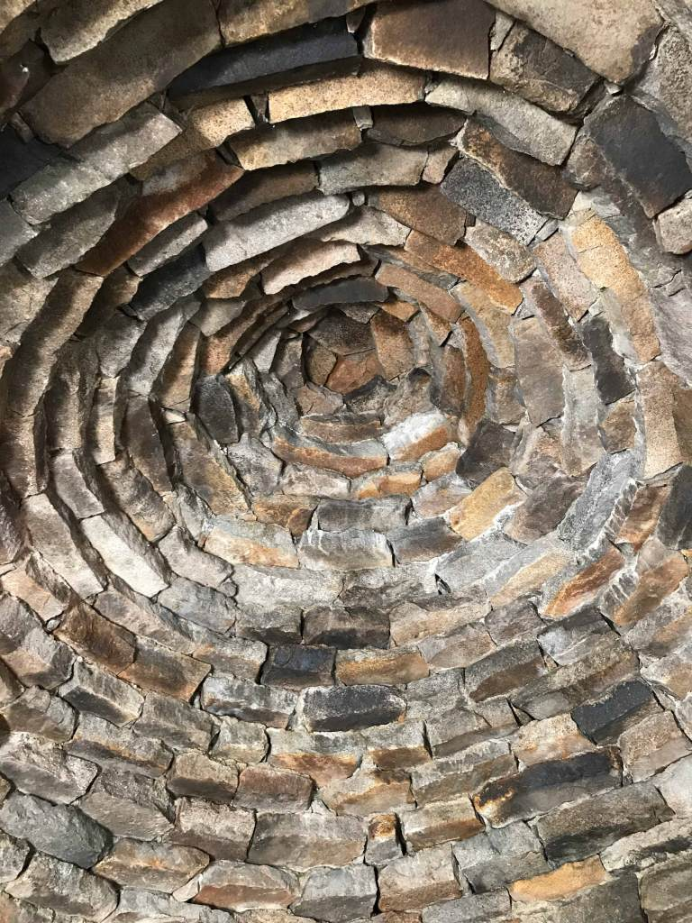 The ceiling inside Muir Hut is a work of art.