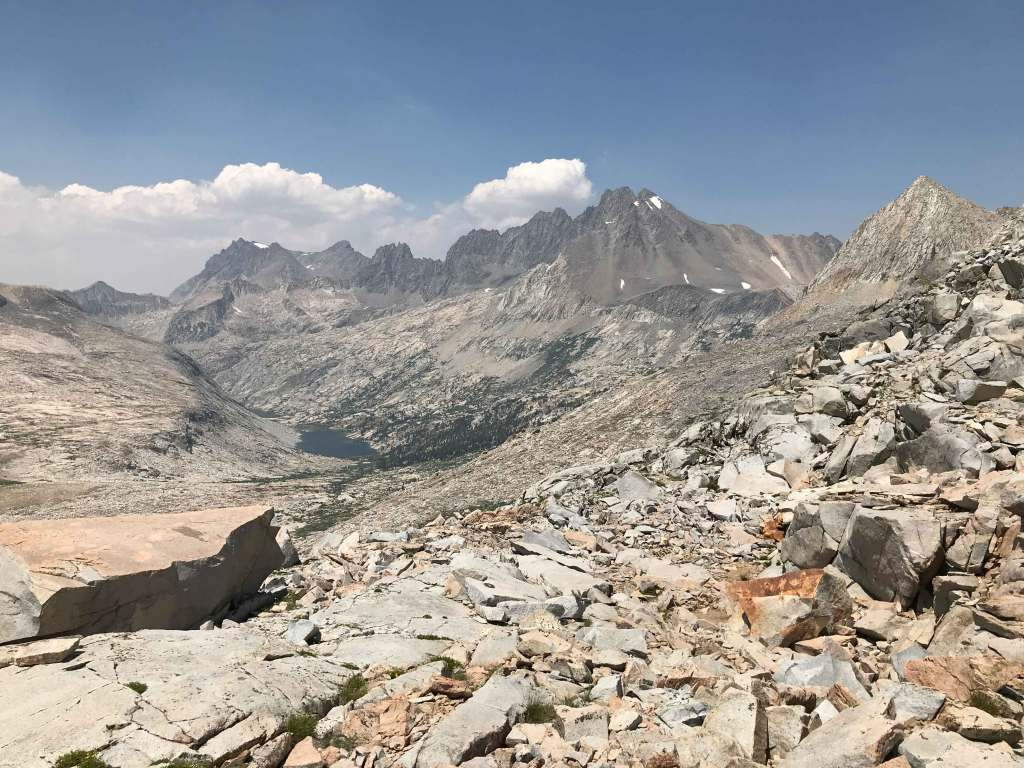 This is the view looking north from the summit of Mather Pass.